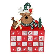 10xchristmas Wooden Advent Calendar With Ders 24 Day Countdown Cute