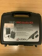 Azden Whd-pro Audio Kit, Wireless Lapel Microphone And Stereo Microphone