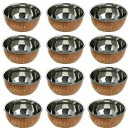 Copper Stainless Steel Bowl / Katori Indian Dinnerwareupper Dia-3.1 Inch Gifts