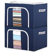 5xstorage Bins Stackable Oxford Cloth Container Organizer Set With Large Window