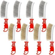 20x8 Pieces Wire Scratch Brush Set Masonry Wire Brush With Soft Grip Wide