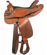 Western Austin Saddle In Leather For Boys Hkm Texas