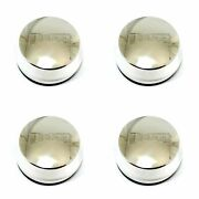 4x Niche Polished Silver Wheel Center Hub Caps 2-3/4od Snap-in