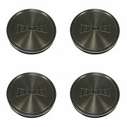4x Dub Machined Brown Dt Wheel Center Hub Caps 3-3/8od Snap-in