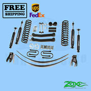 Suspension Lift Kit Zone 4.5 F And R Fits Jeep Cherokee Chrysler 4wd Gas 1984-01