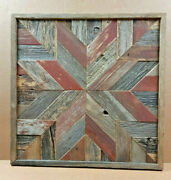 Barn Wood Quilt Block Wall Decor Rustic Artwork Handcrafted Salvaged Reclaimed