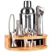 20x12-piece Bartender Kit With Stand Stainless Steel Cocktail Shaker