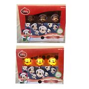 Gemmy 2013 Disney Mickey Mouse Heads Christmas Blinking Lights Lot Of 3 Sets