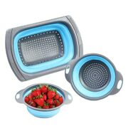 20x3 Pack Collapsible Sink Colanders Silicone Kitchen Strainers With Non-slip