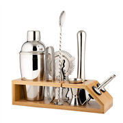 20xcocktail Shaker Set With Stand-10 Pieces Stainless Steel Bartender Kit