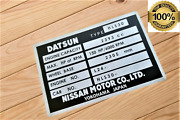 Chassis Vin Id Plate + Your Text