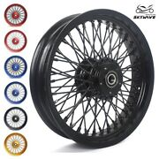 16/3.5 Dual Disc Front Spoked Wheel 72 Spokes For Dyna Sportster Softail Touring
