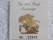 United Kingdom 1 Gold Proof Sovereign 1985
