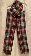 Nwtjanie And Jack2pc59 Pants 4 4t22 Hat 2-3twoolred Black Plaidholiday