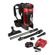 18 Volt Cordless 1 Gal. 3-in-1 Backpack Vacuum Kit Battery Charger And Accessories