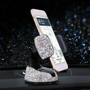 Car Cell Phone Holder Dashboard Stand Crystal Bling Car Interior Accessories