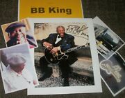 Bb King Autographed Photo And Photos-legendary Blues- Real Collectible