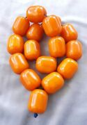 667 Grams Antique Big Very Quality Bakelite Rosary Prayer Misbah Beads Marbled.