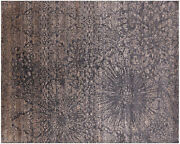 Wool And Silk Hand-knotted Rug 8and039 1 X 10and039 - Q6254