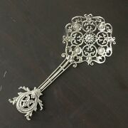 Vintage Shiebler 3137 Sterling Silver Ornate Pierced Sugar Spoon Monogrammed