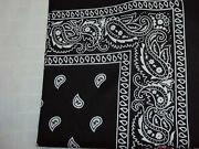 New Cotton Paisley Bandanna Hair Bands Scarf Neck Head Tie Band Pack Of 12-48