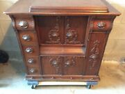 Antique Singer Sewing Machine Model 66-1 Drawing Room Cabinet