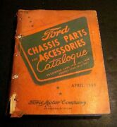 1949 Original Ford Catalog Car Truck Chassis Parts Accessories Manual 1928-1948