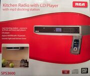 Rca Under Cabinet Kitchen Radio With Cd Player And Mp3 Docking Station Open Box
