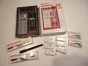 Vintage Rotring Rapidograph Pen Set Technical Drafting Pens/nibs/station 155743