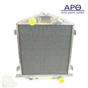 For Chevy Engine 1932 Lo-boy Aluminum Radiator 2 Rows 22 1/2 X 17 1/2 X4