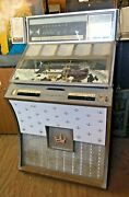 Vintage 1961 Seeburg Ds100 Selecto-matic Juke Box With Side Speakers