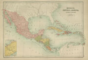Mexico Central America And West Indies. Panama Railway. Bartholomew 1870 Map
