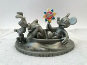 2000 Disneyana Its A Small World Voyage Of Happiness Pewter Sculpture Signed Mib
