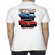 Mens Licensed Ford Gt40 Polo Shirt American Super Car Classic Vintage Clothing