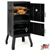 Barbecues Grills Vertical 2 Tier Outdoor Barbeque Grill With Temperature Gauge