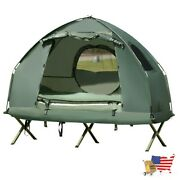 Tents 1 Person Compact Portable Pop Up Tent Air Mattress And Sleeping Bag Army G