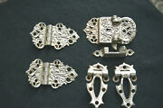 Fab Antique Original Wooden Ice Box Hardware Latch Hinges Ornate 1880s Nickeled