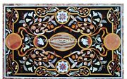 4'x2' Marble Dining Table Top Marquetry Collectible Outdoor Inlay Art Decor B024