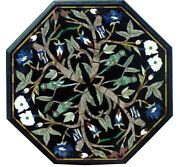 20x20 Marble Coffee Table Mosaic Birds Inlay Marquetry Collectible Gifts H1588