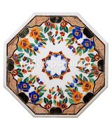 42 Marble Dining Table Top Mosaic Floral Inlay Stone Art Restaurant Decor W254b