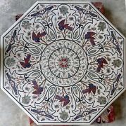 3and039 Marble Dining Table Top Birds And Floral Inlay Living Room Home Decorative W223