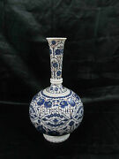 15'' Marble Flower Vases Rare Lapis Gem Stone Inlay Beautiful Gifts Decor H3756