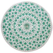 36 Marble White Round Dining Table Top Malachite Floral Inlay Garden Decor W248