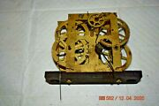 Antique Clock Movement 2, Weight Driven For Parts Or Project