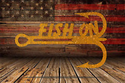 Fishing Hook Boat Gear Wall Art Sign Quote Steel Metal Rustic Country Western
