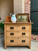 Antique English Country Pine Chest Drawers Sideboard Kitchen Cabinet Table