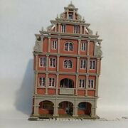 N Scale Building Apartment And Store 5 Story Ornate With Arches Vollmer Built Exc
