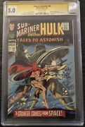 Tales To Astonish 88 Cgc 5.0 Ss Signed Gene Colan Sub-mariner And Incredible Hulk