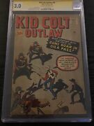 Kid Colt Outlaw 99 Cgc 3.0 Ss Signed Stan Lee - Jack Kirby And Dick Ayers Cover