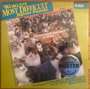 Buffalo Games Worldandrsquos Most Difficult Jigsaw Puzzle Cats 500pcs Doublesided New